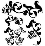 Roses calligraphy design set Stock Photo