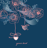 Roses card Royalty Free Stock Photography