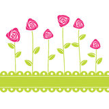 Roses card background. Vector illustration Stock Photo