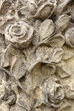 Roses carved in stone Royalty Free Stock Image