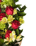 Roses and chrysanthemum Stock Photo