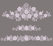 Roses Clip art. Gray Backgrounds Stock Photography