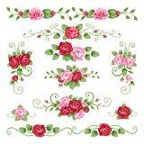 Roses collection royalty free stock photo