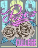 Roses college Royalty Free Stock Photo