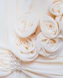Roses crèmes de tissus Photo stock