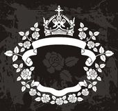 Roses and crown background Stock Image