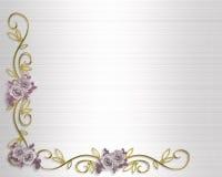 Roses d'invitation de mariage ou de réception Photographie stock libre de droits