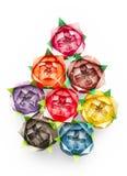 Roses d'Origami Images libres de droits
