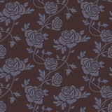 Roses damask seamless pattern Royalty Free Stock Photos