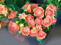 Roses dans la boutique Photos libres de droits