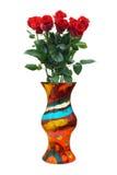 Roses dans le vase Images libres de droits