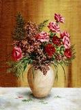 Roses dans un bac blanc Images libres de droits