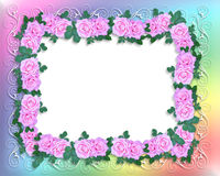 Roses de rose d'invitation de mariage Image libre de droits
