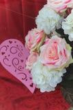 Roses de tissu Photos stock