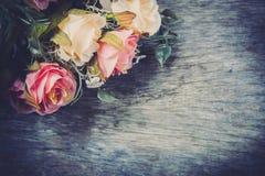 roses de tissu, faux vintage de textile Photos libres de droits