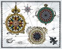 Roses de vent antiques illustration libre de droits