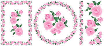 Roses decor ornament element Stock Photos