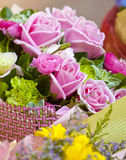 Roses for decoration and gift. There are some fresh roses Stock Photo