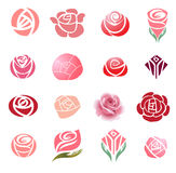 Roses design elements Royalty Free Stock Photo