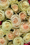Roses in different shades of pink, bridal arrangement Royalty Free Stock Photos