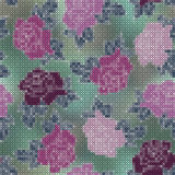 Roses embroidered cross Royalty Free Stock Images