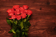 Roses with empty copyspace on right Stock Photos