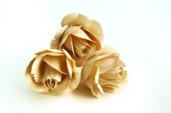 Roses en bois Image libre de droits