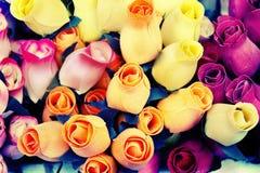 Roses en bois Photo libre de droits