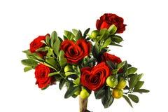 Roses en forme de coeur Photographie stock