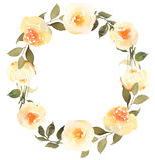Roses en guirlande d'aquarelle de fleur illustration de vecteur