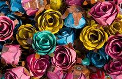 Roses en métal Photos libres de droits