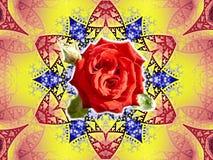 Roses en pierre Photos libres de droits
