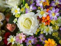 Roses en plastique colorées Images libres de droits