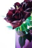Roses en soie Photos stock