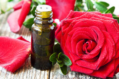 Roses Essential Oil Bottle Royalty Free Stock Image
