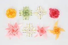 Roses et étoiles faites avec des libations Photographie stock
