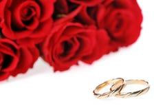 Roses et boucle rouges Image libre de droits