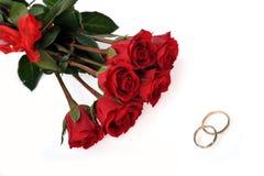 Roses et boucle rouges Photo libre de droits