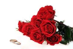 Roses et boucle rouges Image stock