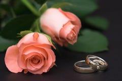 Roses et boucles Photographie stock
