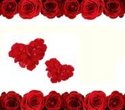Roses et coeurs Photo libre de droits