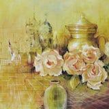 Roses et cruche Photos libres de droits