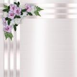 Roses et fond floral de bandes de satin