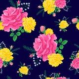 Roses roses et jaunes Photos stock