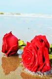Roses et la mer, symboles romantiques Photo stock