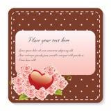 Roses et note de coeur Photos libres de droits