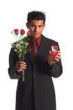 Roses et perles Images libres de droits