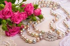 Roses et plan rapproché de luxe Photo stock