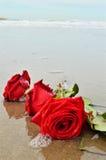 Roses et vagues, symboles Photo libre de droits