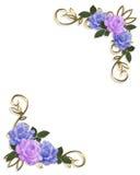 roses faisantes le coin bleues de lavande de conception illustration libre de droits